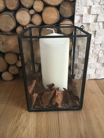 Metal and glass candle holder - Home Bee
