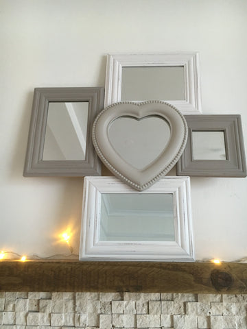Multi heart framed mirror - Home Bee