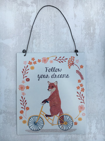 Follow your dreams hanging plaque - Home Bee