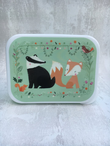 Woodland creatures lunch box/storage container - Home Bee
