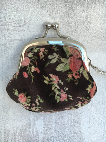 30% OFF WAS £3.50 Floral keyring purse in brown - Home Bee