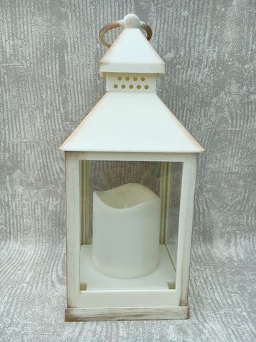 Flameless cream lantern - Home Bee