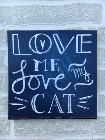 'Love me love my cat' fridge magnet - Home Bee