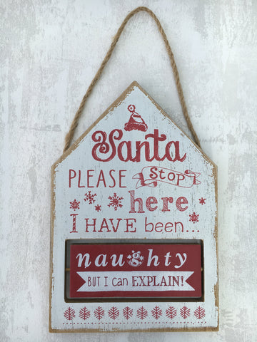 20% off Was £10 now £8 'Santa, please stop here' sign - Home Bee