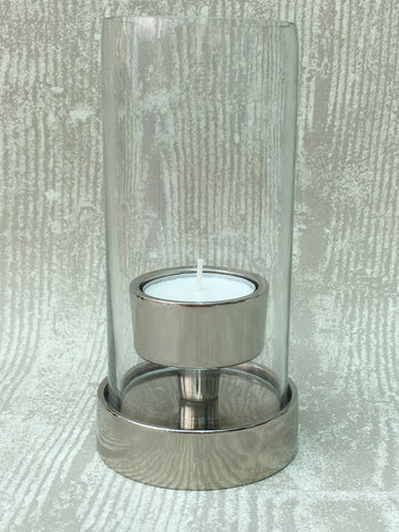 Tall glass T-light holder - Home Bee
