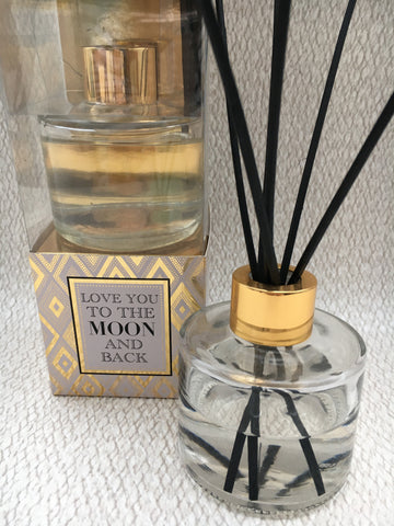 'Love you to the moon and back' reed diffuser - Home Bee