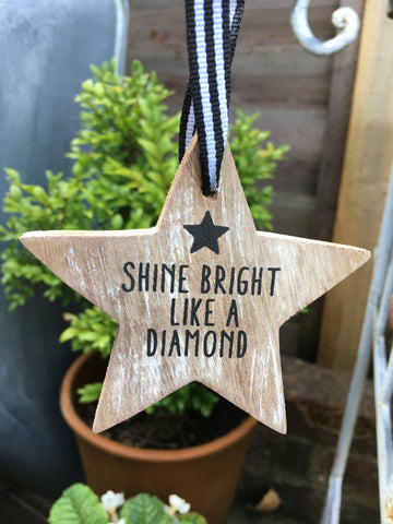 Shine bright like a diamond hanging star - Home Bee
