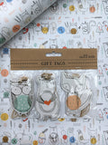 Woodland creatures alphabet gift tags