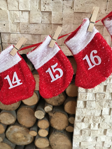 30% OFF Hanging stocking advent calendar was £12 - Home Bee