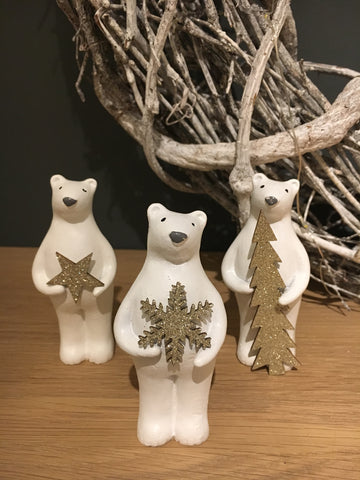 White Christmas bears - Home Bee