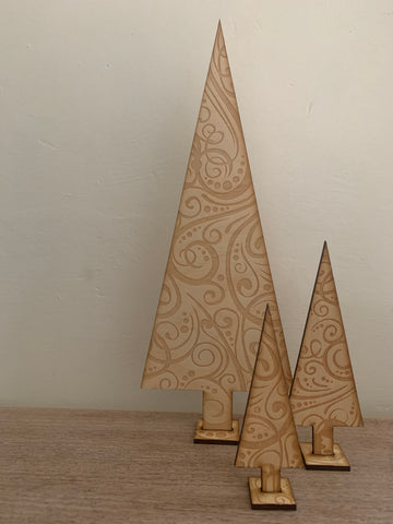Wooden Christmas trees - Home Bee