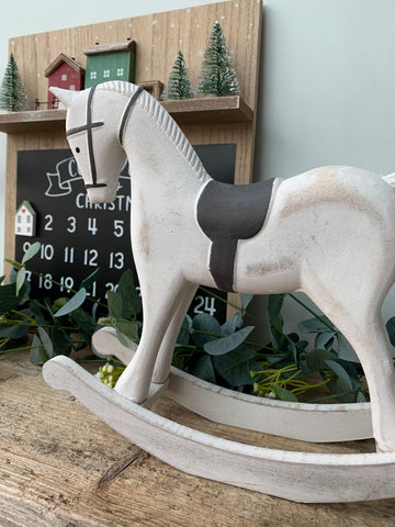 20% off was £20 Whitewashed rocking horse