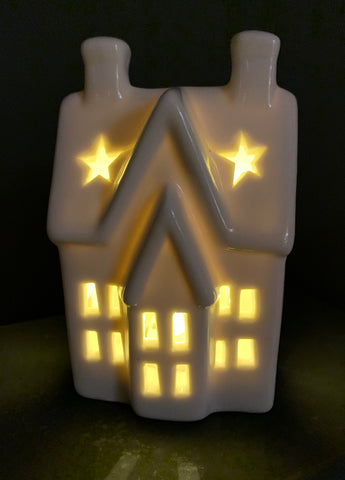 LED ceramic house - Home Bee
