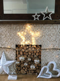 White LED light up star - Home Bee