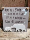 Kiss me goodnight plaque