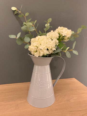 Grey flower jug - Home Bee