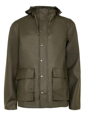 Khaki Showerproof Rubberised Parka