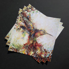 "Blotter Art "" Hummingbird of Paradise """