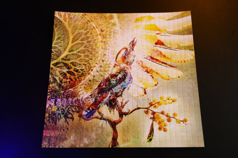 "Blotter Art "" Epiphany on a Sprig """