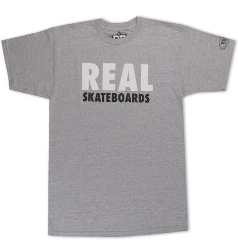 Real Block Logo Grey T-Shirt