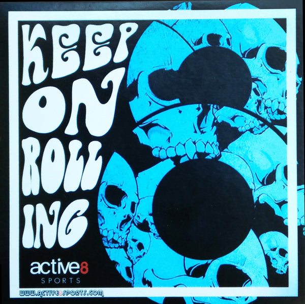 Active8 Keep on Rolling Sticker  - (Pack of 3)