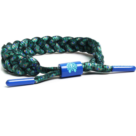 Rastaclat Emerald Peacock Braided Bracelet