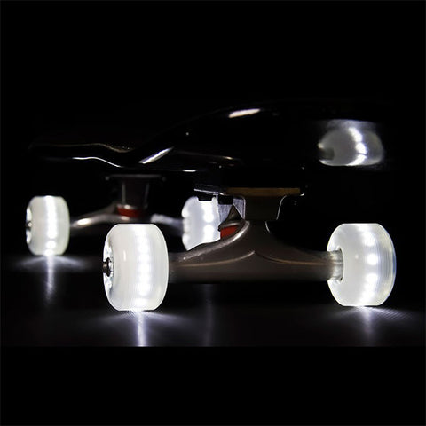 Sunset Skateboards 90D 54mm White LED Skateboard Wheels