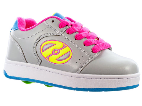 Heelys Grey/Neon 2 Wheel Roller Shoes