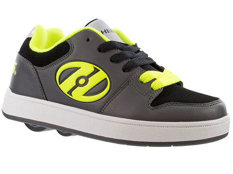 Heelys Charcoal/ Yellow 2 Wheel Roller Shoes