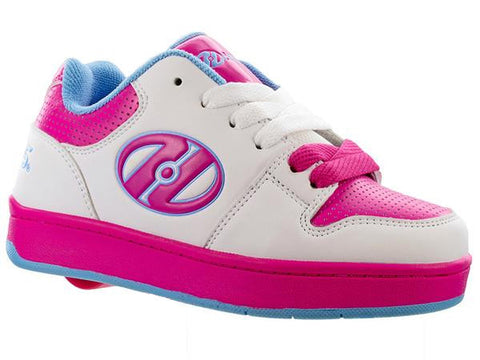 Heelys White/Hot Pink - 1 Wheel Roller Shoes