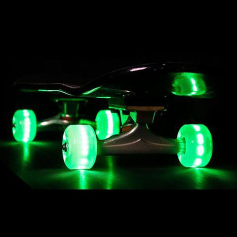 Sunset Skateboards 90D 54mm Green LED Skateboard Wheels