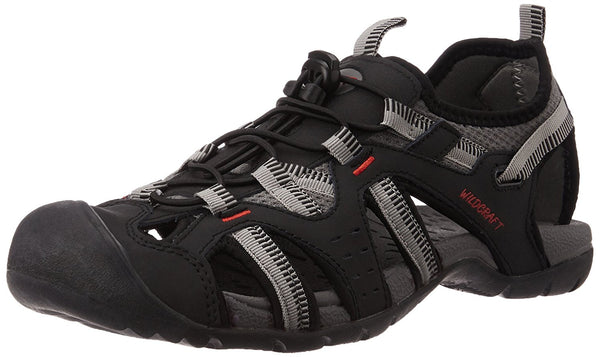 Wildcraft Men's Black Sandals & Floaters