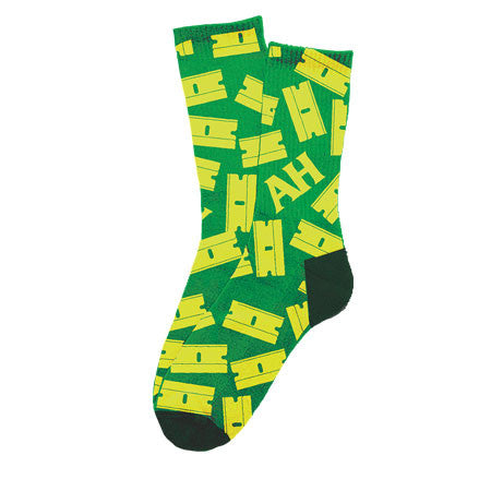 Anti-Hero Razor Life Crew Green / Yellow Socks