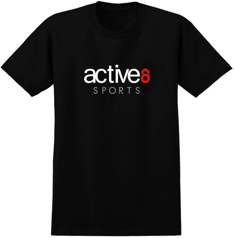 Active8 Logo Black T-Shirt