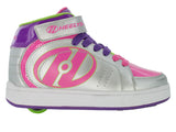 Heelys Paver Silver/Fuchsia/Purple 1 Wheel  Roller Shoes