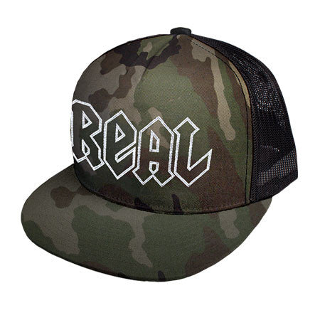 Real Adjustable Deeds Trucker Camo Twill Mesh Hat