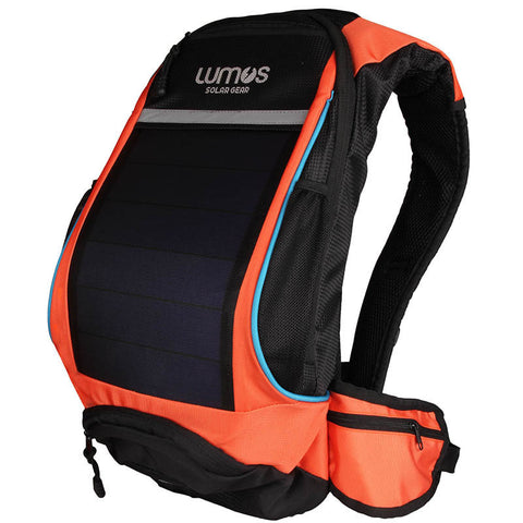 Lumos Thrill Seeker Solar Hydration Daypack Orange
