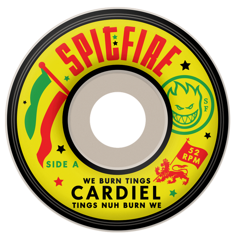 Spitfire Cardiel We Burn White 52MM Skateboard Wheels