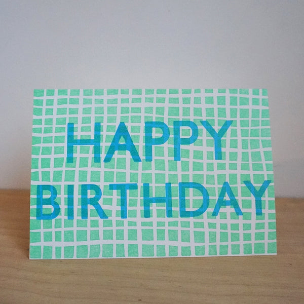 wood type birthday - grid