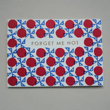 Forget Me Not block print