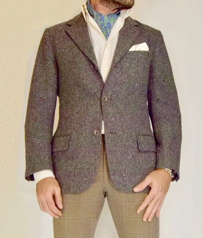 tombolini, jacket, ascot, tie, paisley, pocket-square, ascot-tie, style, casual, formal