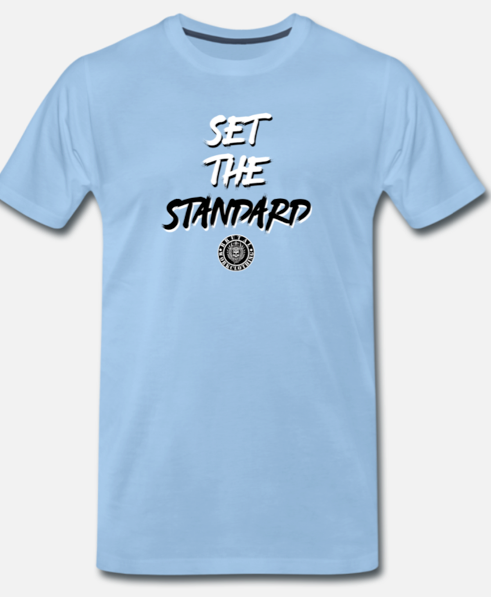 set the standard t-shirt