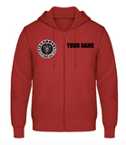 Personalized Zipper Hoodie red