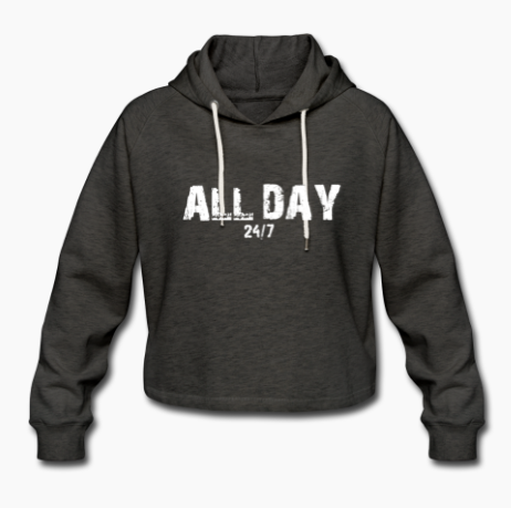 all day cropped hoodie