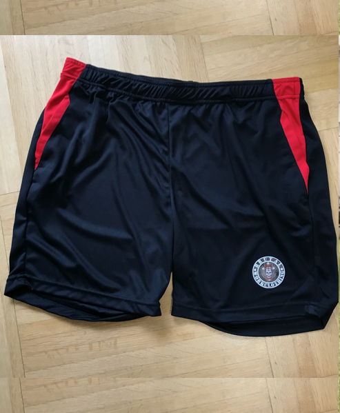 bwc short black red