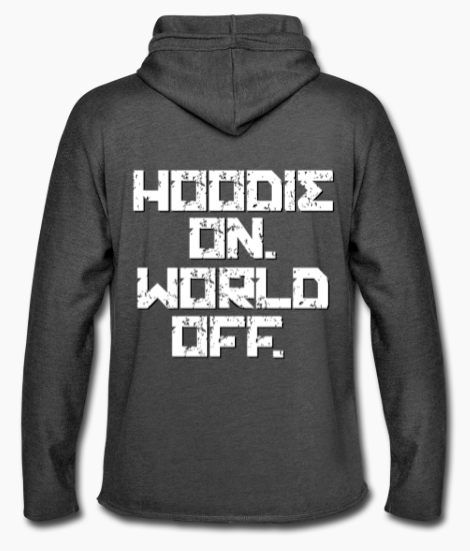 hoodie on world off light hoodie