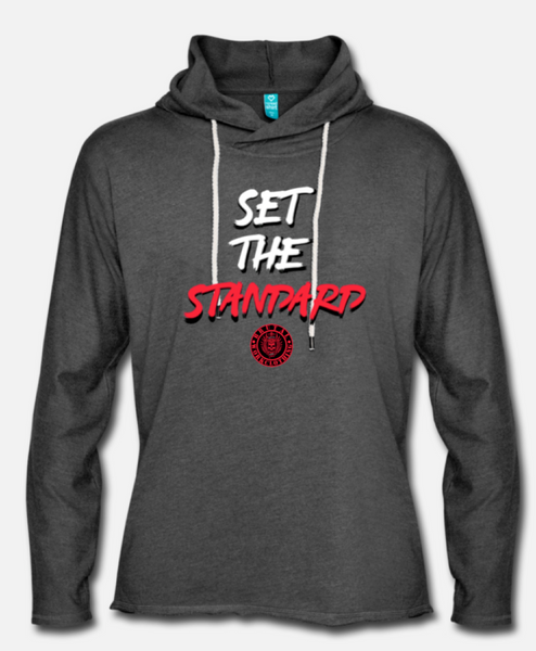 set the standard light hoodie