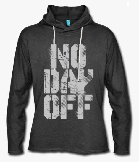 no day off light hoodie
