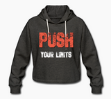 push your limits cropped hoodie