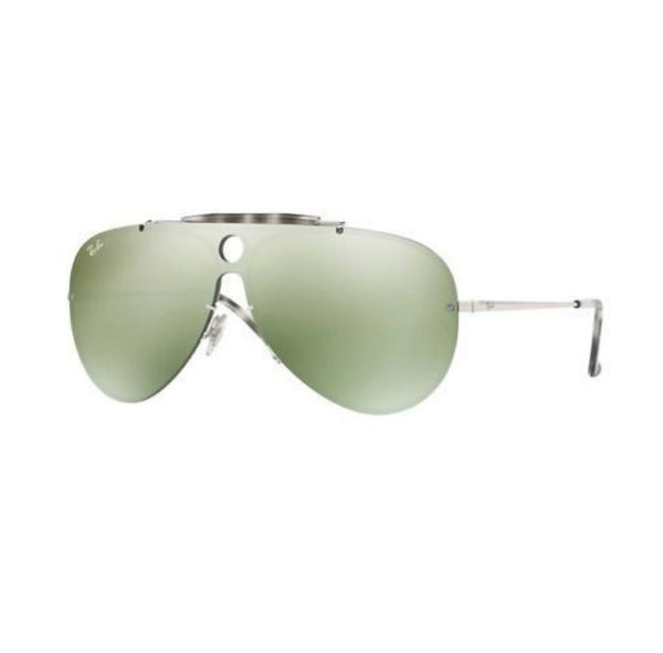 RayBan Blaze Shooter RB3581N 003/30 32mm Silver Green Mirror Sunglasses